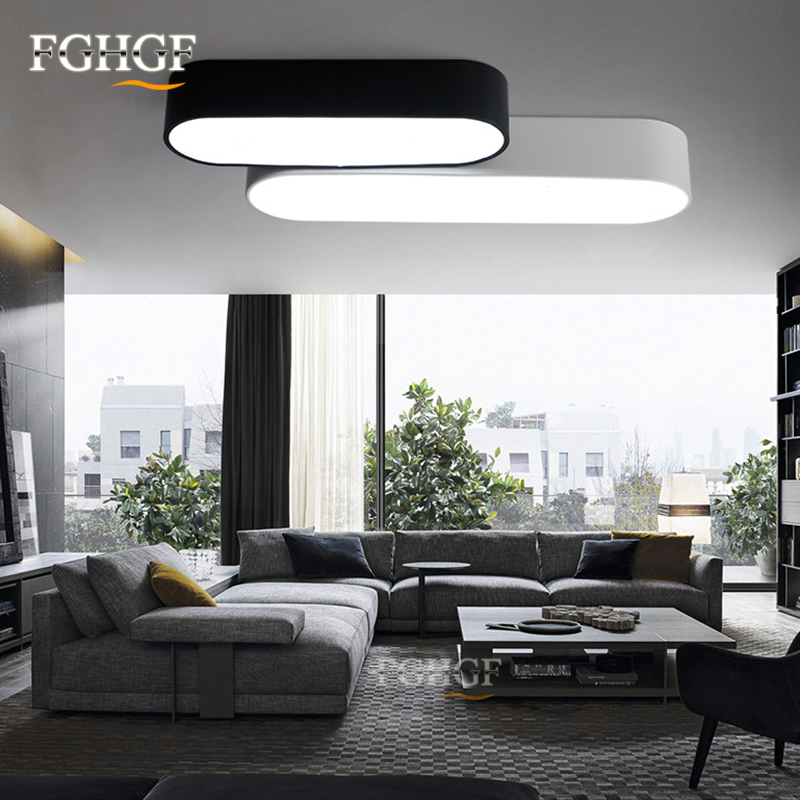 Modern ceiling light 110v 220v Oval Acrylic LED Ceiling Lights for Ceiling Flush Mounted Lamparas LED Lamp Lustres Free Shipping modern led ceiling lights for children acrylic led dimming ceiling lamp 110v 220v round ceiling fixtures lights sourface mounted