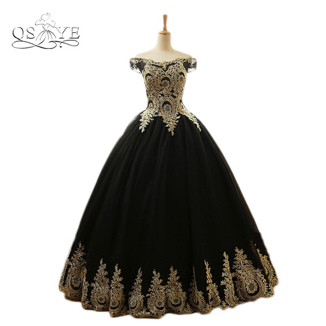 Black evening dress formal gown