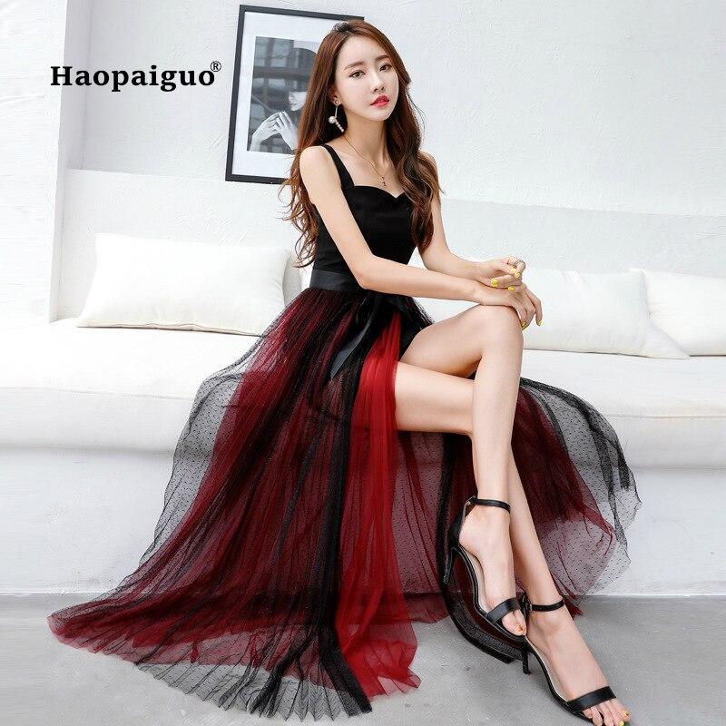 Longue tenue de club noir pour dames Spaghetti sangle moulante Bandage Robe femmes maille Sexy Robe de soirée été 2018 femmes Robe Femme