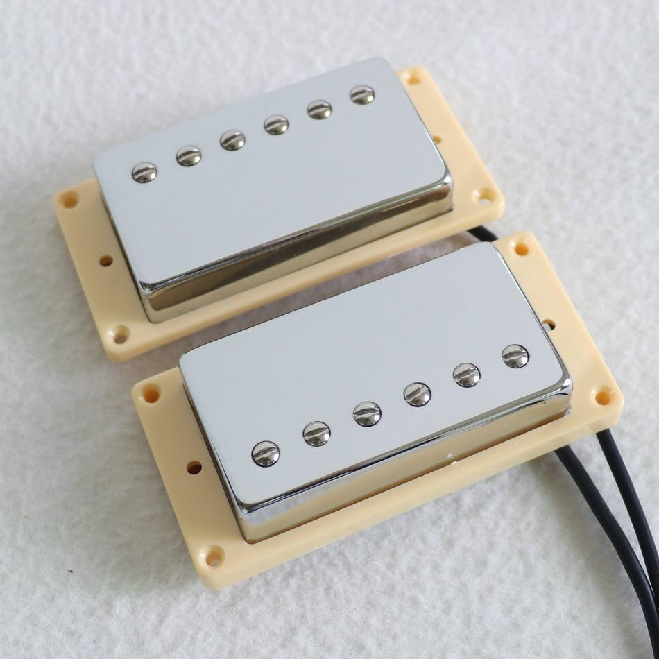 buy sell free shipping n b per set ceramic magnet lp guitar pickup chrome. Black Bedroom Furniture Sets. Home Design Ideas