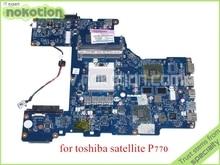 PHRAA LA-7211P REV 1.0 MB K000122880 For toshiba Satellite P770 Motherboard HM65 GeForce GT540M