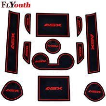 цена на 12Pcs Non-Slip Interior Door Pad Cup Mat Door Gate Slot Mat Case For Mitsubishi ASX 2013-2018 Auto Accessories Car Styling