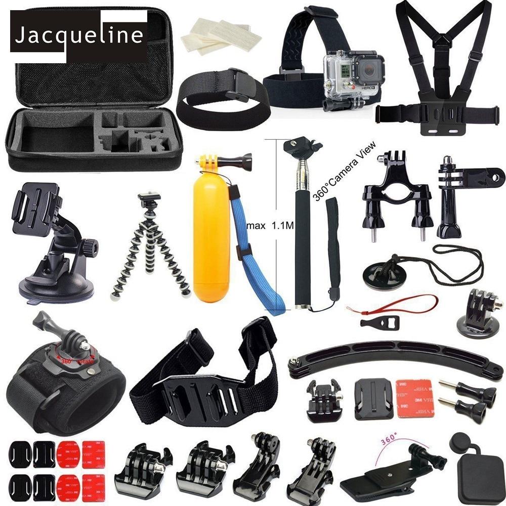 Jacqueline pour accessoires Set Kit sac monopode sangle de poitrine pour Gopro HERO 6 5 Go pro HD 4 3 + 3 2 pour SJCAM pour eken h9r h9