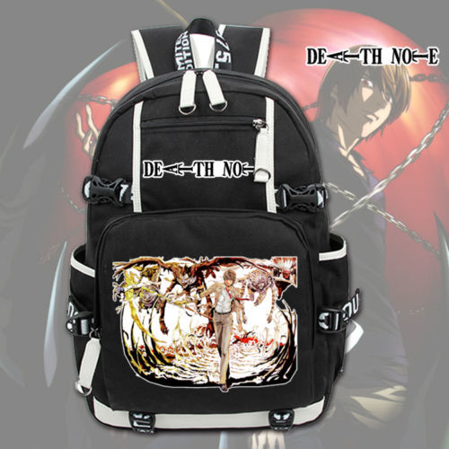 Anime Death Note Backpack Shoulder Laptop Bags Knapsack Packsack Travel Study School Bags Bookbag Otaku GiftsAnime Death Note Backpack Shoulder Laptop Bags Knapsack Packsack Travel Study School Bags Bookbag Otaku Gifts