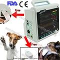 6-Para+PRINTER+Etco2+NIBP+SPO2+PR+ECG+TEMP+RESP Veterinary VET Patient Monitor