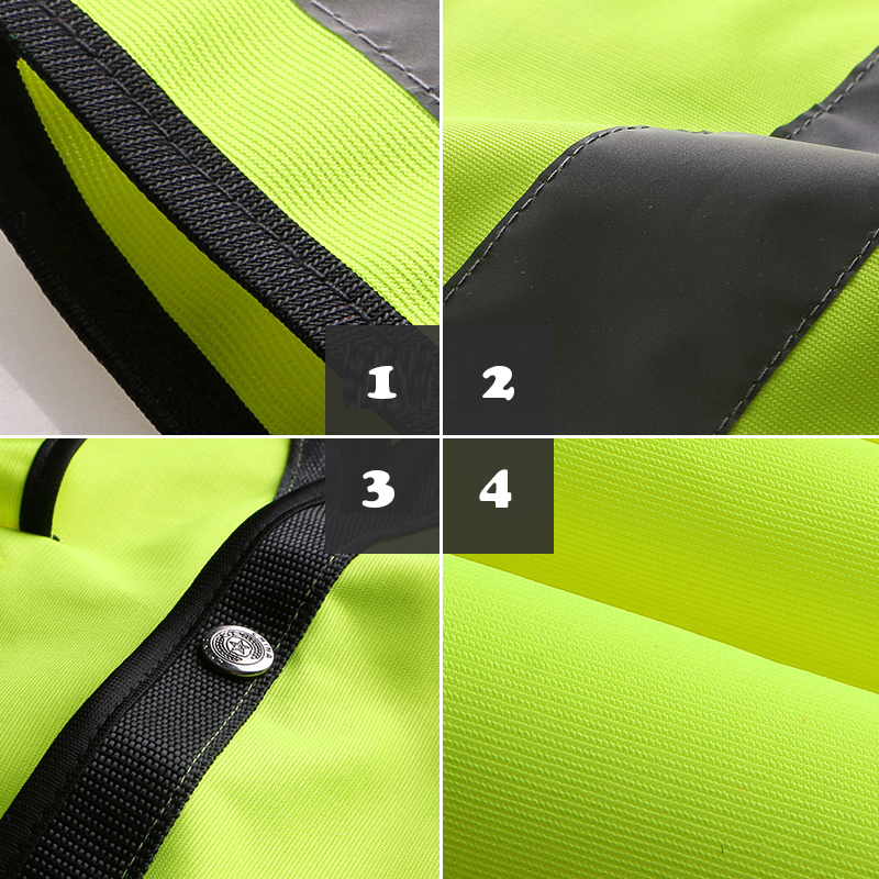 Image 5 - SPARDWEAR HIGH VISIBILITY REFLECTIVE SAFETY VEST WAISTCOAT MENS WITH MULTI POCKETS SILK SCREEN LOGO PRINTING FREE SHIPPING-in Safety Clothing from Security & Protection