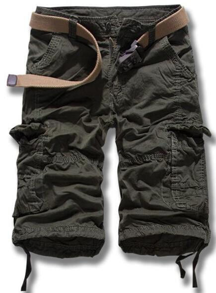 Горячие Летняя распродажа Для мужчин армия грузов работы Повседневное бермуды Шорты для женщин Для мужчин модные штаны хлопок Шорты для женщин - Цвет: Армейский зеленый