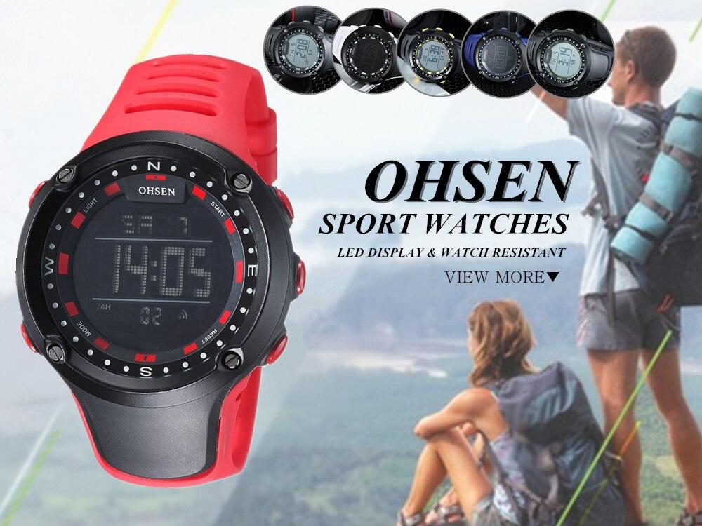 OHSEN Top LED Digital Men\`s Watch Kids Watches Women Sport Clock Child Sports Wrist Watch Electronic for Girl Boy Surprise Gift (25)