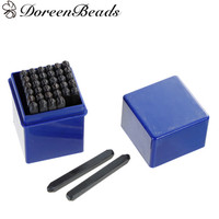 DoreenBeads 4mm Carbon Steel Number 0 9 Alphabet Letter A Z Punch Metal Stamping Tools