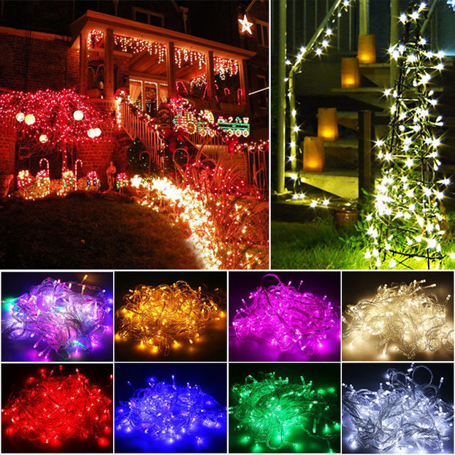 new 200 twinkle led christmas lights 20m led xmas string fairy wedding background outdoor holiday party