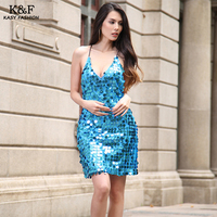 Sexy Women Night Clubs Sequined Dress Spaghetti Strap Deep V Neck Backless Elegant Sequined Party Dresses