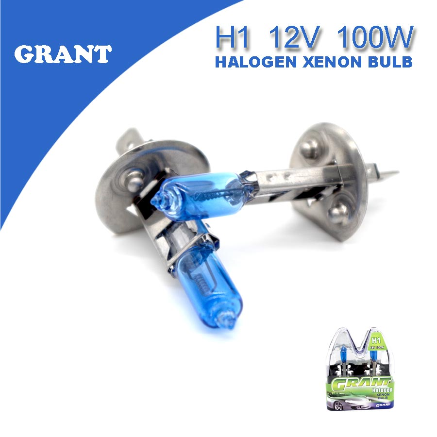 Grant 1set H1 100w Dc12v Halogen Bulbs 6000k Bright White