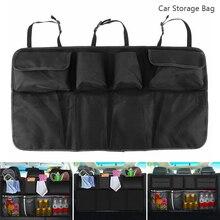 Черный багажник автомобиля организатор заднее сиденье сумка для хранения сиденье висит карман Универсальный автомобилей средства ухода