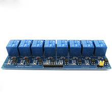 8 relay module, 5V microcontroller, low level relay model, PLC relay control board free shipping new 30mr 51plc programmable logic controller plc microcontroller control board control panel sm539 cf