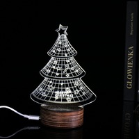 Customized Multi styles 3D light Table Lamp Christmas Tree 3D Light Night Light Acrylic USB lamp Dropshipping as Gift IY803439