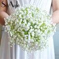 SoAyle Горячий продавать Свадебный Букет 2016 свадебные цветы свадебные букеты 20 см * 30 см buque noiva Высокого класса оригинал хотя ленты