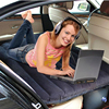 Black SUV Car Travel Camping Inflatable Mattress Flocking Air Bed With Inflator