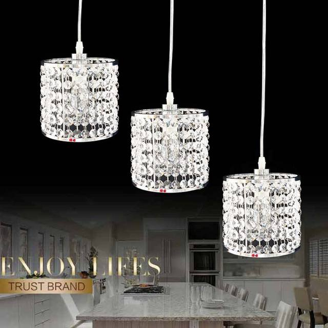 crystal lamps modern pendant light fixtures kitchen dining room bedroom coffee chrome christmas decorations for home - Christmas Decorating Pendant Lights
