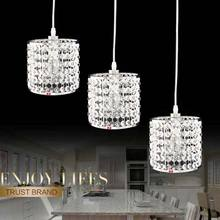 Crystal Lamps Modern Pendant Light Fixtures Kitchen Dining Room Bedroom Coffee Chrome Christmas Decorations for Home Lighting