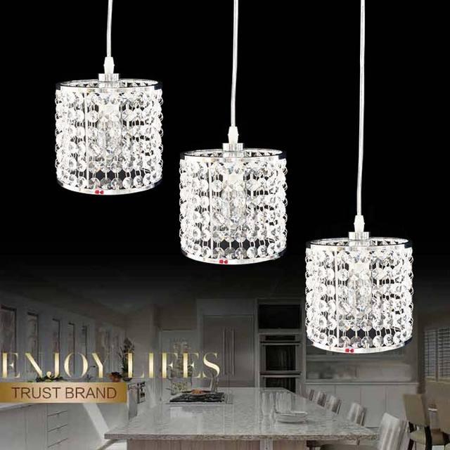 lmparas de cristal modernas lmparas colgantes dormitorio cocina comedor caf cromo iluminacin de navidad para