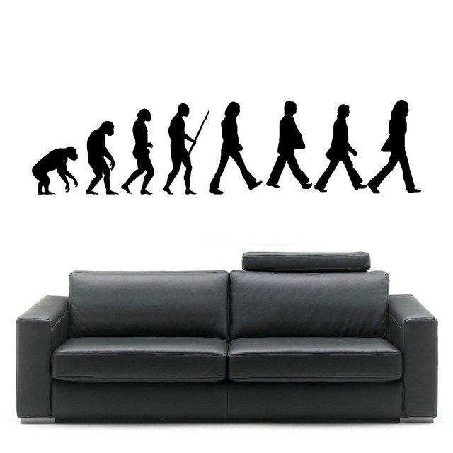 Evolution Of Man The Beatles Wall Decal Music Evolution Mural Art ...