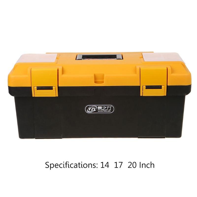 1 Set 14/17/20 Zoll Tragbare Große Haushalts Wartung Elektriker Werkzeug Box Multi-funktionale Hardware Auto Auto Reparatur Verdicken
