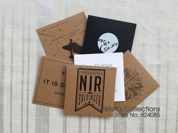 Kraft Paper Personalized Custom Envelopes CD Cases CD Sleeves DVD