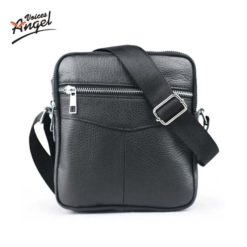 2016 New Casual Small Mens Bag Genuine Leather Brand Men Messenger Bags Business Men Mini Shoulder Bag Crossbody Bags For Men