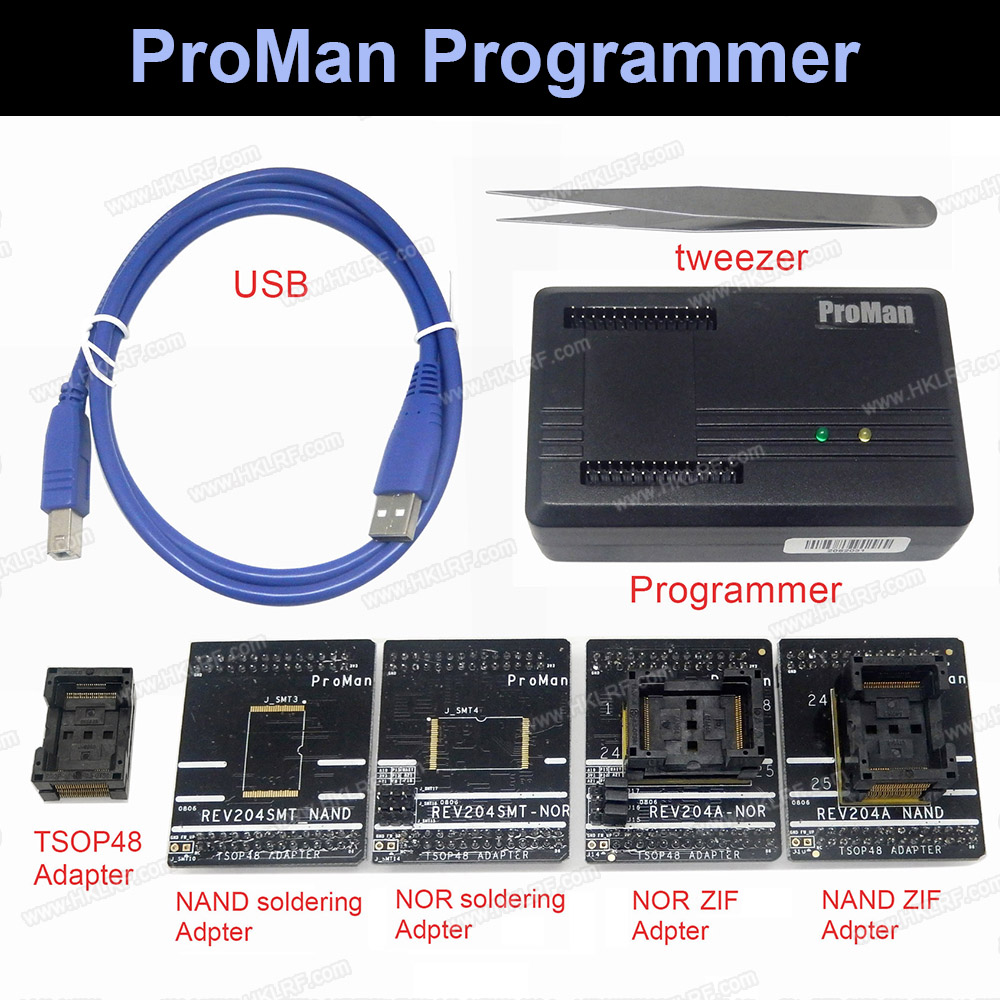 ProMan Professional nand flash Programmer Repair Tool Copy NAND NOR TSOP48 Adapter TL86 PLUS programmer High