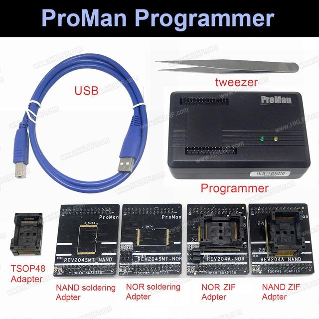 ProMan Professionele nand flash Programmeur Reparatie Tool Kopie NAND NOCH TSOP48 Adapter TL86 PLUS programmeur Hoge Programmering snelheid