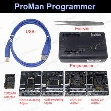 Proman profissional nand flash programador ferramenta de reparo copiar nand nor tsop48 adaptador tl86 plus programador alta velocidade programação