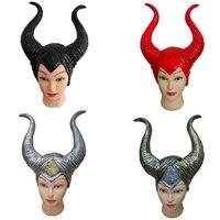 Malefica Maschera alla moda Genuino corna malefici adulto donne halloween costume party jolie in lattice cosplay copricapo cappello parrucca