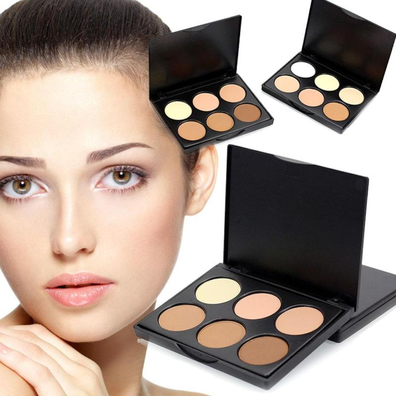 Eyeshadow Makeup-Palette Blusher Foundation Setting-Powder Contour Matte 6-Colors
