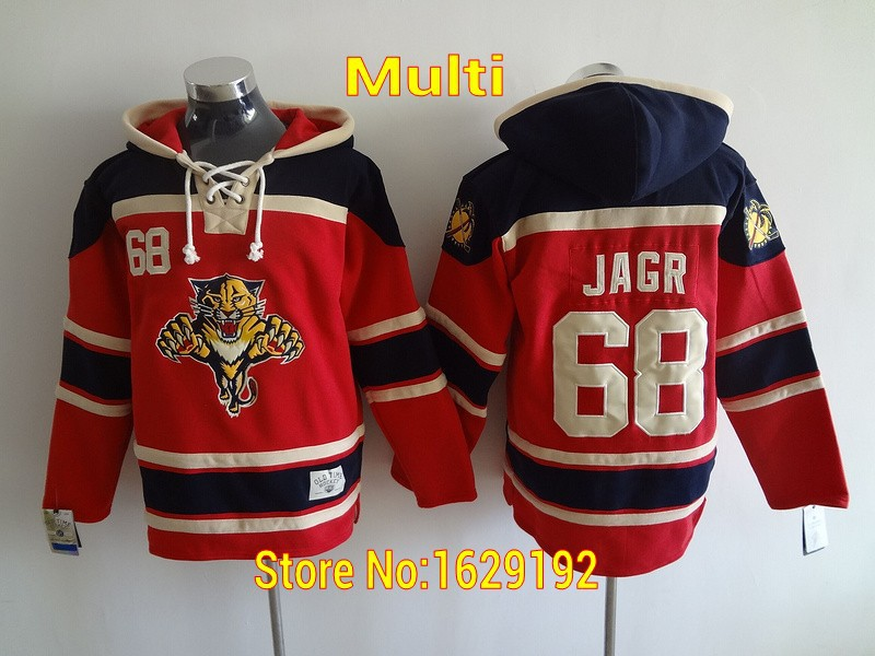 ... coupon code for mens sweatshirt florida panthers jersey hoodie 16  aleksander barkov 68 jaromir jagr red 952a1c64a