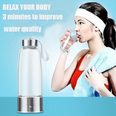 430ml USB Rechargeable Hydrogen Rich Water Generator lonizer Alkaline Antioxidan Anti-Aging Energy Bottle Healthy Sport Cup