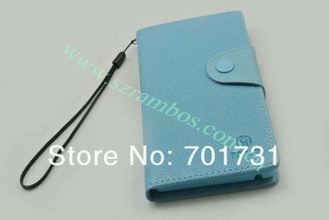 500pcs/lot Wallet PU Leather Flip Cover Pouch Cell Phone Case for Sony LT36H wit Card Holder free shipping