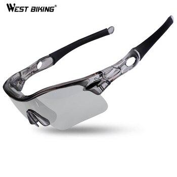d164f62b48 WEST ciclismo polarizadas gafas de ciclismo UV400 fotosensibles deporte gafas  MTB bicicleta senderismo gafas hombres de bicicleta ciclismo gafas