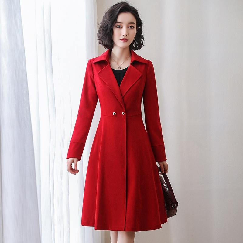 2019 Spring Autumn New Women's Trench Coat Windbreaker Female Cotton Vintage Outerwear Clothing Long Slim Overcoat Plus Size X53