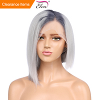 Синтетические волосы на кружеве натуральные волосы парики предварительно сорвал 13x4 бразильский Ombre Синтетические волосы на кружеве парик