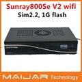 2014 recién llegado de sunray dm800se V2 wifi color negro V2 1 GB flash 512 MB RAM sim2.2 400 mhz procesador satélite cuadro receptor