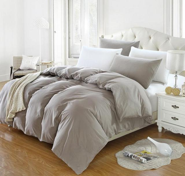 Solid Color Cotton Twin Full Queen King Size Duvet Cover Comforter Quilt 1pcs