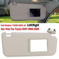 NEW 1PCS Left/Right Car accessories Beige Sun Visor with Make up Mirror and Screws For Toyota RAV4 2006 2009