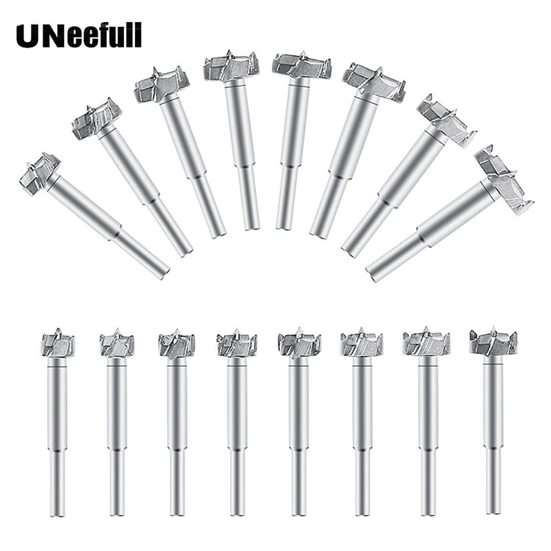 цена на UNeefull 16Pcs Forstner Drill Bit Set 15mm-35mm Drill Bits Tungsten Steel Woodworking Hole Saw Set Wood Drill Bits Auger Opener
