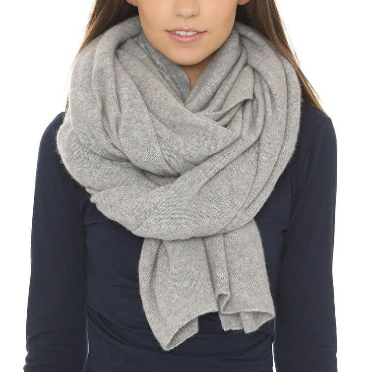 100% кашемировый однотонный вязаный зимний осенний шарф шаль Пашмина унисекс нейтрального цвета Все Соответствие 60x170 см