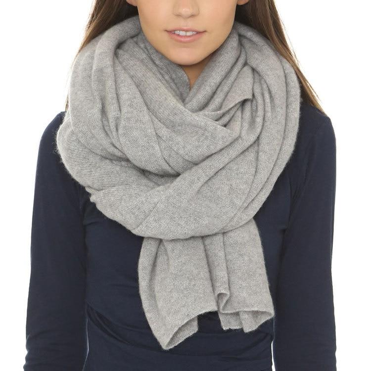 100% cachemire plaine tricot hiver automne écharpes châle pashmina pour unisexe neutre couleur all-correspondant 60x170 cm