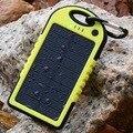 5000 мАч Солнечное Зарядное Устройство Водонепроницаемый Портативный Литий-Полимерный Аккумулятор Powerbank Солнечное Зарядное Устройство Для Телефона 6/6 Плюс RDZ483