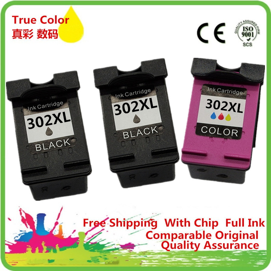 1 Set + 1 Black Ink Cartridge Remanufactured For HP 302 XL HP302 HP302XL 302XL Deskjet F2438 F4288 F4488 D1668 D2568 D2668 D55681 Set + 1 Black Ink Cartridge Remanufactured For HP 302 XL HP302 HP302XL 302XL Deskjet F2438 F4288 F4488 D1668 D2568 D2668 D5568