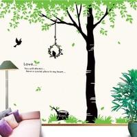 عملاق أسود 3d شجرة الجدار ملصق ل غرفة المعيشة للإزالة نوم الطبيعة جدار صائق زخرفة المنزل الجدار ملصق