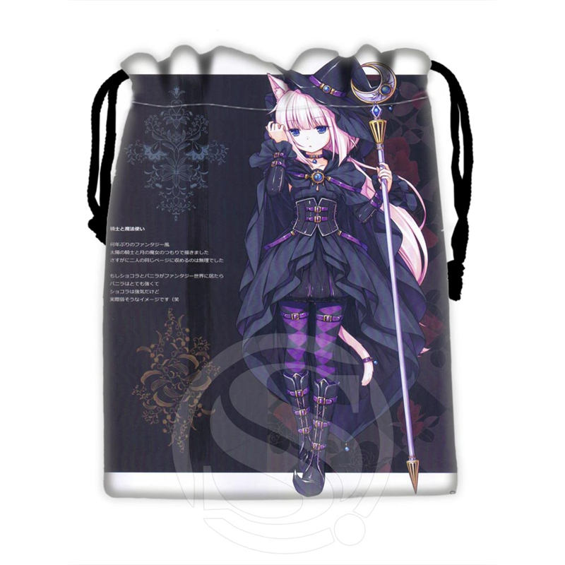 H-P797 Custom Anime Girl#22 Drawstring Bags For Mobile Phone Tablet PC Packaging Gift Bags18X22cm SQ00806#H0797
