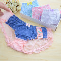 Hot sale! Young girls lace panties seamless print breathable panty transparent briefs teenage underwear girl panties
